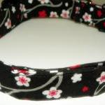 Dog Collar - Black with red and whi..
