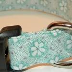 Light Blue Dog Collar with White Fl..