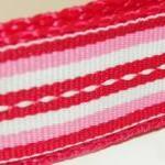 Red, Pink & White Dog Collar - Red,..