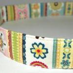 Adjustable Dog Collar - Pastel Stri..