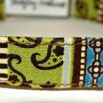 Dog Collar - Green, Blue and Brown ..