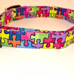 """Autism Awareness Dog Collar - XL (17-29"""")"""
